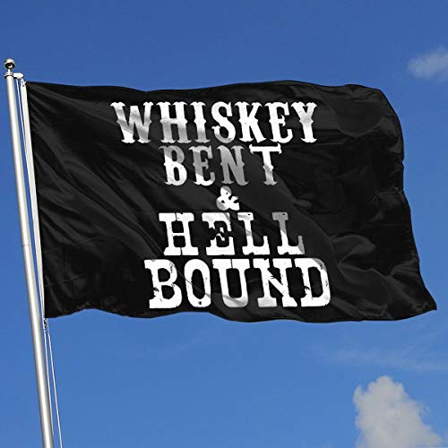 (Sisa Whiskey Bent and Hellbound 3x5 Foot Flags Outdoor Flags 100% Single-Layer Translucent Polyester 3x5 Ft)