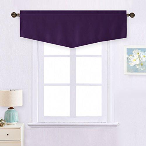 - NICETOWN Blackout Valance Short Curtain - W52-inch by 18-inch Ascot Rod Pocket Drape Window Curtain for Loft (Royal Purple, Single Panel)