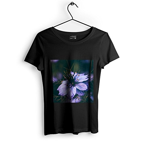 Flowering Violet African (Westlake Art Flower Color - Unisex Tshirt - Picture Photography Artwork Shirt - Black Adult Medium (None-DD27B))
