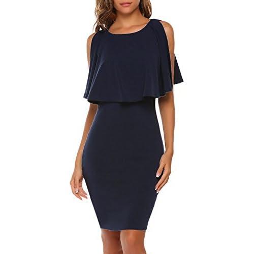 ACEVOG Women's Elegant Sleeveless Split Ruffles Keyhole Bodycon Pencil Dress For Cocktail Party supplier