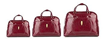 Summit Handbag for Women set of 3 Pieces, Red, 9008D3/3P