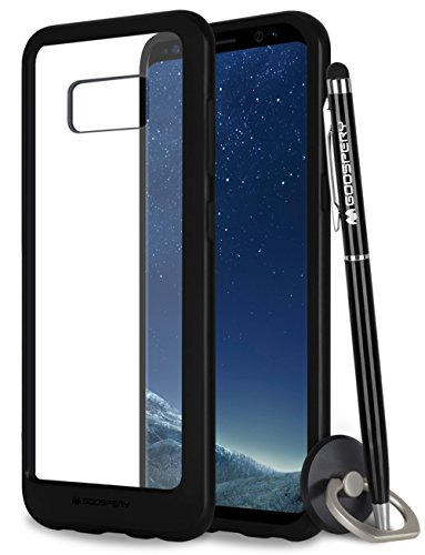 - Galaxy S8 Case, Mercury Bumper X [Shockproof] Protective Hybrid TPU Cover with Clear Hard PC Back [Slim Fit] for Samsung Galaxy S8 - Black, S8-BPX/GF-BLK