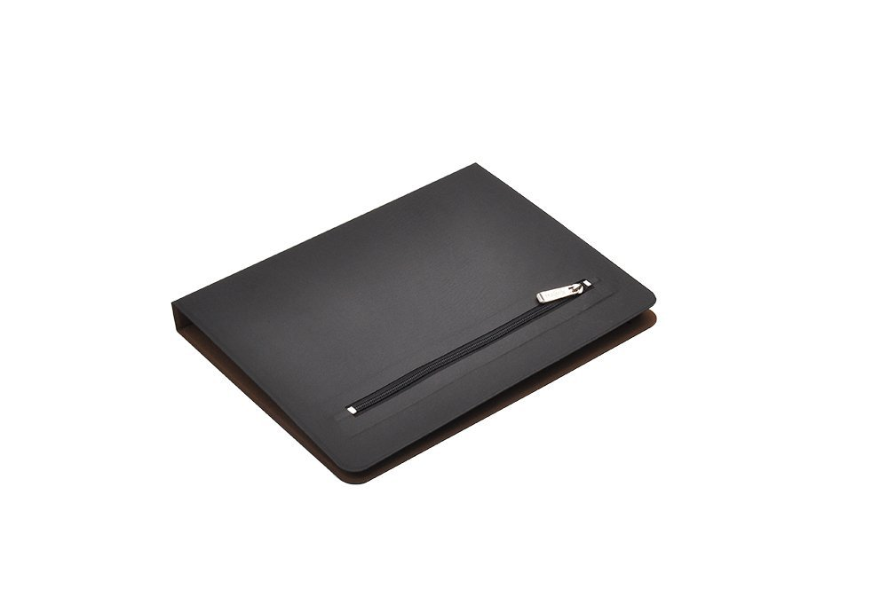 iCarryAlls Organizing Folio Case, 3-Ring Binder Portfolio with 3/4-inch Round Ring,Holds 8.5 x 11-inch Papers,Black