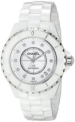 (Chanel Men's H1629 J12 Diamond White Dial Watch)