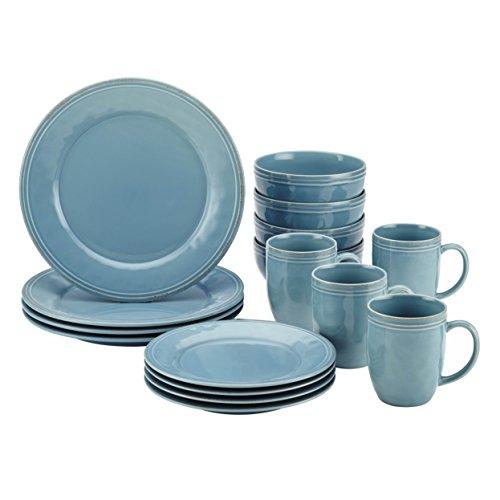 Rachael Ray Cucina Dinnerware 16-piece, Agave Blue - Set of 2