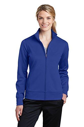 Sport-Tek Ladies Sport-Wick Fleece Full-Zip Jacket (LST241) -TRUE ROYAL -XL
