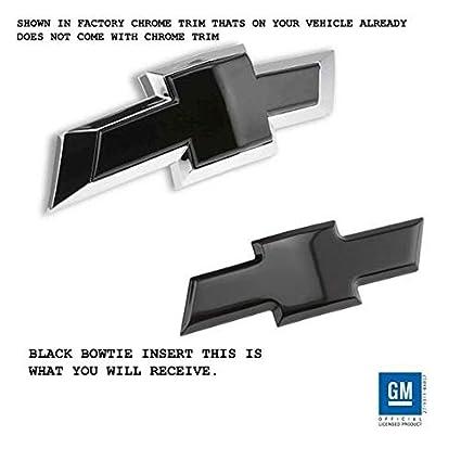 Billet Bowtie Emblem Combo Kit (Front + Rear) 2015-2018 Chevy Tahoe,  Chevrolet Suburban (Black)