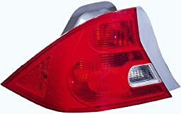 Honda Civic Coupe Replacement Tail Light Assembly - Driver Side