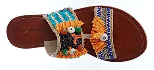 Antik Batik Damen Pallas Peeptoe Sandalen Multicolore (multico)