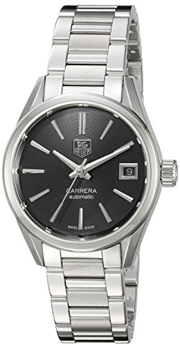 TAG Heuer Women's 'Carrera' Swiss Automatic Stainless Steel Dress Watch, Color:Silver-Toned (Model: ()