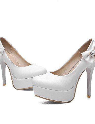 GGX/ Damen / Herren / Mädchen / Unisex-High Heels-Hochzeit / Büro / Kleid / Lässig / Party & Festivität-Mikrofaser-Stöckelabsatz-Absätze-Blau white-us5.5 / eu36 / uk3.5 / cn35