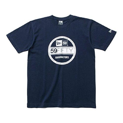 ニューエラ NEW ERA 半袖シャツ?ポロシャツ COTTON VS BASIC 半袖Tシャツ ネイビー/ホワイト L