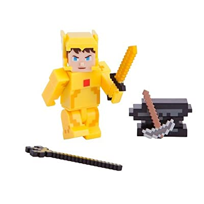 Terraria Gold Armor Player Toy with Accessories: Toys & Games