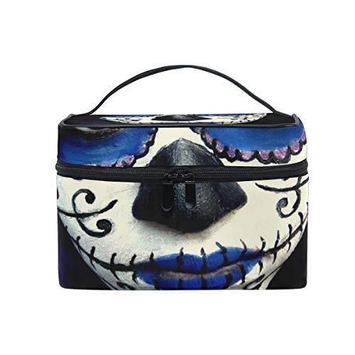 Makeup Bag Guy Sugar Skull Makeup Cosmetic Bag Portable Large Toiletry Bag for Women/Girls Travel -