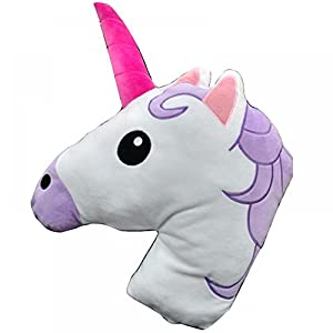 unicorn horse head shaped emoticon soft plush pillow filled padded stuffed cushion bedding - Horses Head Pillow