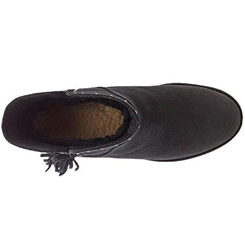 Ugg Australia Womens Cindy Black Leather Boots 38 EU