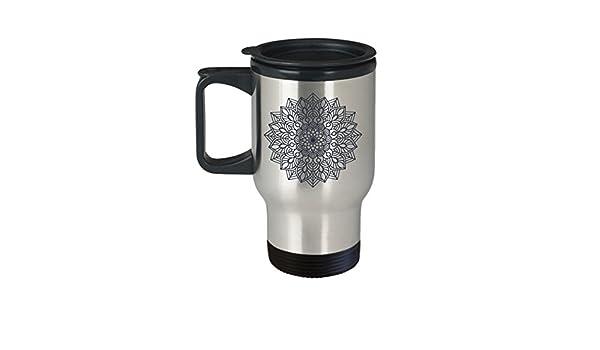 Taza de viaje con diseño de mandala indio, regalo para mujer: Amazon.es: Hogar