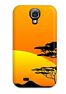 Tpu Kwesi Williams Shockproof Scratcheproof Safari Sunsets Hard Case Cover For Galaxy S4