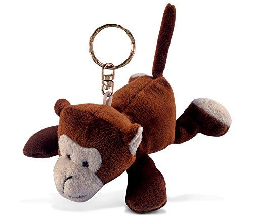 Puzzled Monkey Plush Keychain