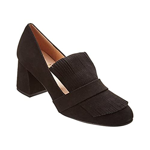 French Sole Cabarnet Suede Pump, 6, Black durable modeling