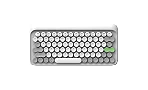 Wireless Mechanical Keyboard, LOFREE Four Seasons Mac Mechanical Keyboard with Gateron Blue Switch/White LED Backlit/Rechargeable Battery,Bluetooth Vintage Keyboard for MacOS,iOS,Windows,Android