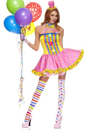 Wonderland Cutie Adult Costumes (Rave Wonderland Women's Circus Cutie Extra Large)