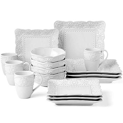 Lenox French Carved Square 16-Piece Dinnerware Set