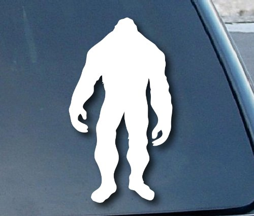 "Bigfoot Car Window Vinyl Decal Sticker 8"" Tall (Color: White)"