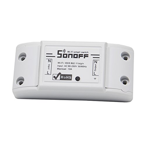 Geekworm Sonoff DIY Wi-Fi Wireless Switch Itead Switch with ABS Shell for Smart Home