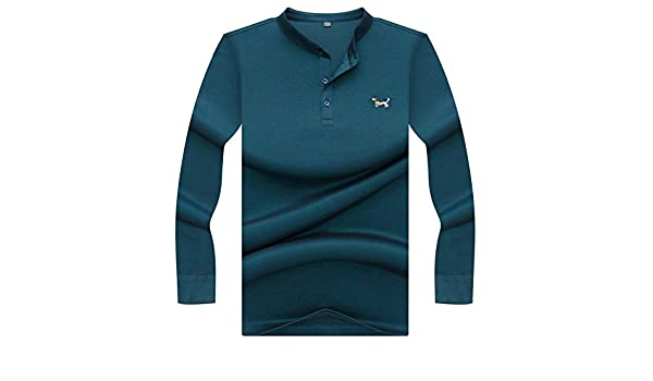 NISHIPANGZI Polo Shirt Hombres Nuevo Invierno Color sólido Mens ...