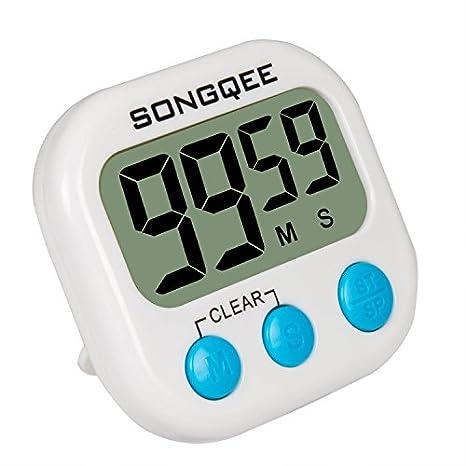 Compra SONGQEE Temporizador de Cocina Digital Mejorado, Volumen Ajustable Cuenta atrás Back Fuerte magnético Apagado automático de la Cocina Reloj con ...