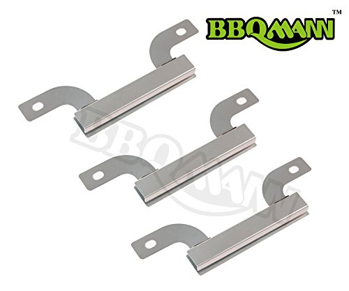 (BBQMANN AJ425(3-pack) Stainless Steel Cross-over Tube Burner Replacement for Select Gas Grill Models by Brinkmann, Charmglow and Others (7 9/16