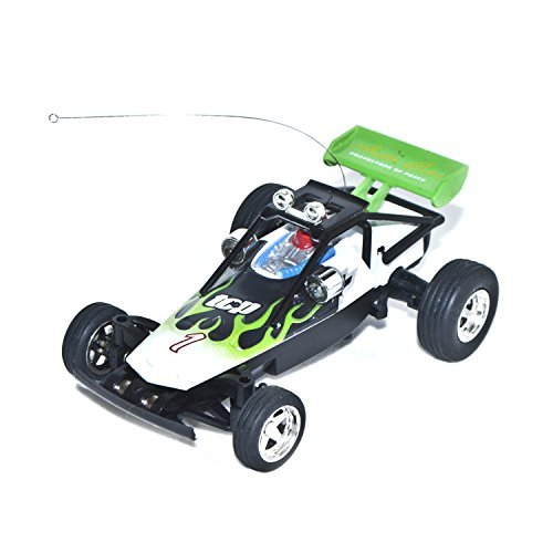 Electric Power Awesome Mini RC Buggy, Green 1/52 Scale ()
