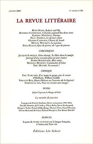 Livres gratuits La Revue littéraire, N° 10, Janvier 2005 : pdf epub