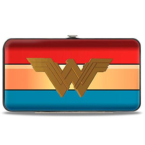 (Buckle-Down Hinge Wallet - Wonder Woman 2017 Icon/Stripe)