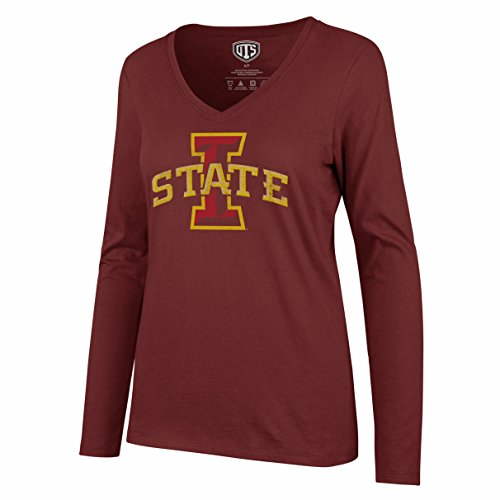Nfl State Iowa Cyclones (OTS NCAA Iowa State Cyclones Women's Rival Long sleeve Distressed Tee, X-Large, Cardinal)