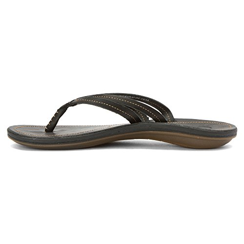 Black Leather Sandal Olukai black Women's U'i O4qn6R