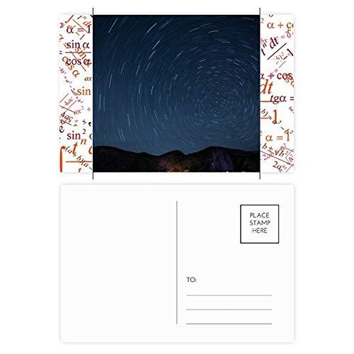 Landscape Stars Lights Night Sky Formula Postcard Set Thanks Card Mailing Side 20pcs ()