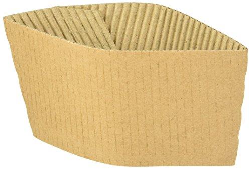 (Genuine Joe GJO19049PK Protective Corrugated Cup Sleeve, Brown (Pack of 50))