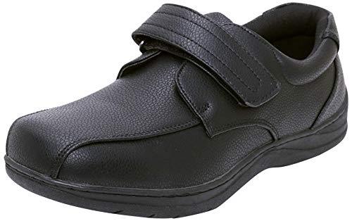 Easy Strider Boys' Everyday Memory Foam School Uniform Shoes, Black Strap, Size 7 Toddler'