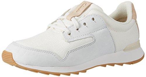 Clarks Floura Mix, Zapatillas para Mujer Blanco (White Combi)