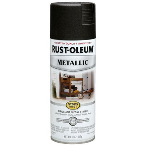 - Rust-Oleum 248636 11-Ounce Metallic Finish Spray Paint, Oil Rubbed Bronze