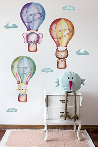 Hot Air Balloon Decal Wall Decals for Kids Room Pack of 3 An