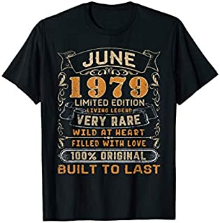 June 1979  40 Years Old 40th Birthday Gift For Him Her T-shirt | Size S - 5XL