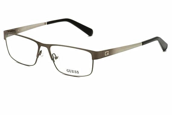 GUESS Eyeglasses GU 1770 Satin Gunmetal 56MM at Amazon Men\'s ...