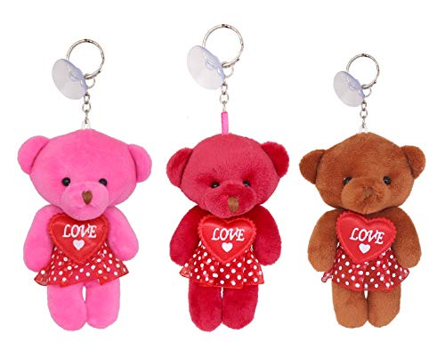 Tickles Cute Love Teddy Keychain for Valentine Gift Set of 3
