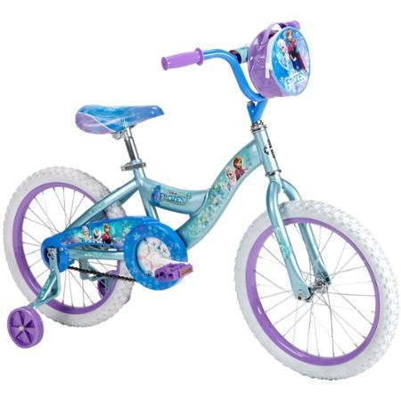 "18"" Huffy Disney Frozen Girls' Bike with Friends and Family Totally Fun"