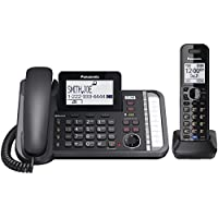Panasonic KX-TG9581B , 2 -Line Corded/Cordless Expandable Link2Cell Telephone System With 1-Handset (Certified Refurbished)