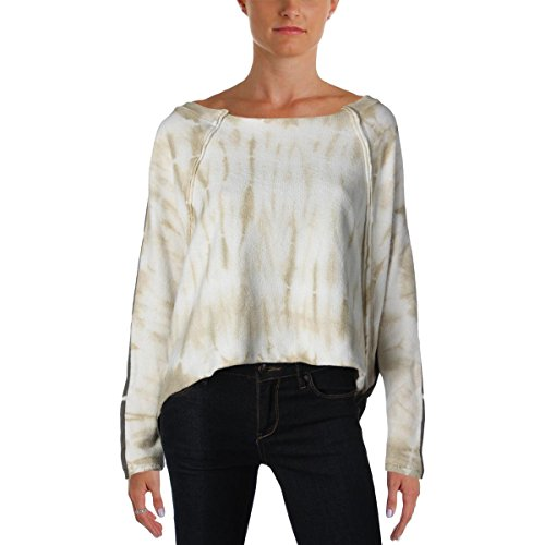 Free People Womens Tie-Dye Oversized Pullover Sweater Green M (Free People Wool Sweater)