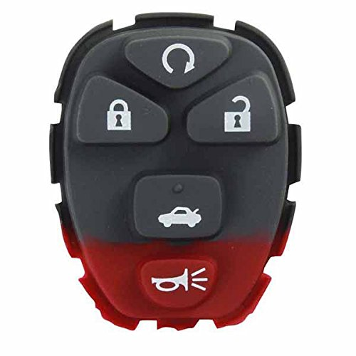 KeylessOption Replacement 5 Button Keyless Entry Remote Key Button Pad Compatible with 22733524